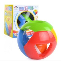 Free Shipping~1 PIECE Fancy jingle ball hand grasp exercise listening and flexible fingers 0 and 1 year old baby toys