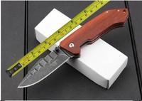 FREE SHIPPING C.JUL HERBERTZ Wood Handle Sone Wash Blade Folding Pocket knife 201112