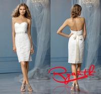 RBW098 Vestido de Noiva Knee Length Short Lace Wedding Dresses 2015 Bridal Gowns Wedding Party Dress Vestidos De Casamento