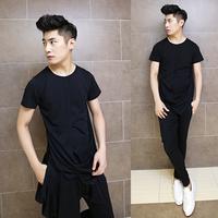2014 new male T-shirt hairstylist Night T-shirt fashion personality tide short sleeve punk t shirt tops