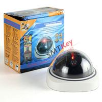 White Dummy camera red light Flash Dummy CCTV Camera