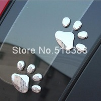 Car styling Cat Footprint Style 3D Car Sticker Exterior Decoration Custom Car Stickers Styling