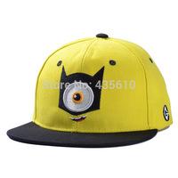 Despicable Me Despicable Me little yellow man cartoon tidal flat along the cap baseball cap hat men and women Hip-Hop