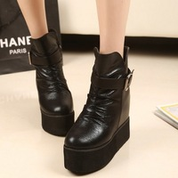 Hot! 2014 New Brand Platform High Heel Single Shoes Vintage Women Motorcycle Boots Martin Boots Woman Fashion Winter Shoes