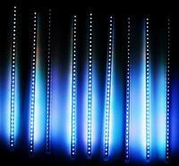 Free shipping RGB LED Meteor lights tube rain drop shower christmas tree lamp 50cm 3528 60 LED 10tubes/set Decoration