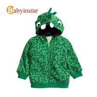 2014 Fall and Winter Korean Style Kids Jackets:3d Cartoon Crocodile Style Baby Boys Coat Hooded Zipper Sweater Hoodies