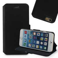 "2014 New Arrival Luxury Genuine Soft Leather Magnetic Button Case for iPhone 6 Plus 5.5"" with Back Stand Holder Wholesale"