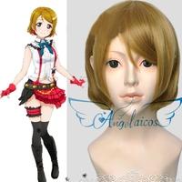 Angelaicos Lovelive! Koizumi Hanayo Lolita Blonde Short Halloween Cosplay Costume Full Wigs