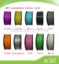 3d printer filaments ABS Consumables diameter 1.75mm 1kg plastic Rubber Consumables Material MakerBot/RepRap/UP/Mendel