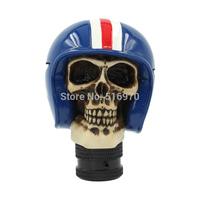 Free shipping Universal Resin Gear Shifter Knob Skull helmet cool gear shift knobs Shift knob Skeleton Helmet Lever car styling