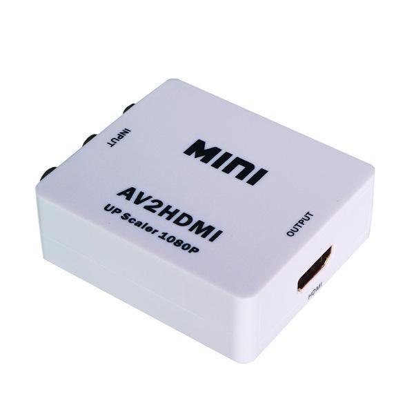 M2Cbridge Mini AV/CVBS Composite RCA to HDMI 720p/1080p Upscaling Video Converter Adapter(China (Mainland))