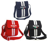 New arrival du/cati 80s shoulder bag / men messenger bags/ pu/ma logo men casual bag new with tag blue/black/red