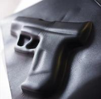 Women Men hot gun bag 3d cartoon bag pistol gun bag briefcase Vlieger & Vandam style fashion PU Leather bags