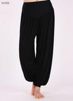 Women Ladies Solid Harem Yoga Sport Flare Modal Pant  Dance Club Boho Wide Leg Pants Loose Long Trousers
