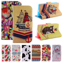 New Luxury Cartoon Flag Print Wallet Card Holder Flip Case For NOKIA LUMIA 520 Stand PU Leather Phone Protective Cover Bags