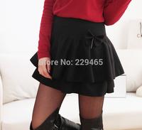 Winter new Korean woolen skirt fluffy skirt mid waist pleated significantly fashion pleated short skirt women mini casual wear