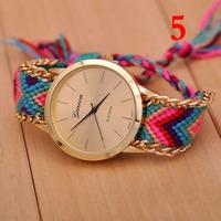 Free shipping Retail Manual Weave Colorful watch women 2015 new design relogios femininos watches women