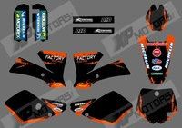 0524 NEW STYLE FACTORY (Orange & Black)TEAM GRAPHICS & BACKGROUNDS DECALS STICKERS Kits for KTM SX65 2002-2008