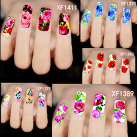 50Sheets New 2015 Nail Art Flower Water Transfer Full Sticker Wraps Polish Decals Tattoos Watermark Tools Choosing XF1372-1421