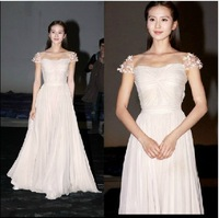 2014 NEW fashion Korean female Star Formal dress women slim Evening dress party Toast dress
