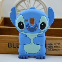 Wholesale hot 3D Cartoon Minnie Stitch Silicone phone Case cover for Samsung galaxy S3 mini I8190