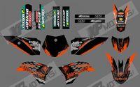 0545 NET (ORANGE & BLACK ) New style Team 3M DECALS STICKERS Graphics Kits for KTM50 SX50 50CC 50 50SX 2009-2013