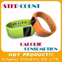Free Shipping ! High-tech software Wrist Watch Calorie Smart Pedometer wristband calorie counts with accelerometer