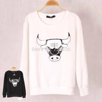 High quality Fashion Brand Winter Women Bullfight Corrida Printed Sweatshirt Hoodies Tracksuits pullovers Tops Plus size SML