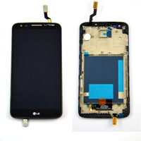Black LCD touch screen with digitizer assembly with frame for LG Optimus G2 VS980 Verizon