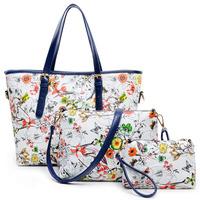 Women Oil Painting Big Bag 2015 Fashion Shoulder Bags Women Floral Pattern Three-piece Messenger Bags New Crossbody Bag