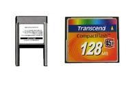 Transcend 128MB 45X Compact Flash Card + ATA PC Card PCMCIA Adapter JANOME Machines