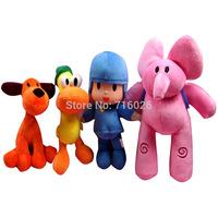 2015 Bandai Cartoon Stuffed Animals & Plush Toys Hobbies Loula & Elly & Pato & Pocoyo Plush Toys Doll For Children Kids 4PCS/Lot