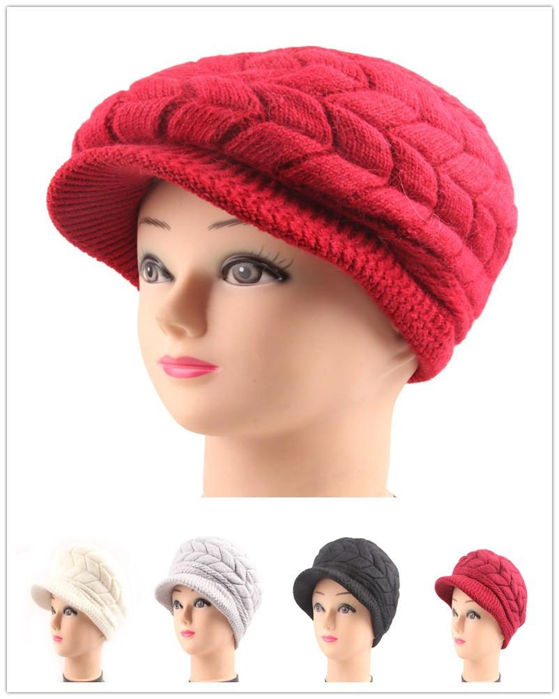 Knitting Pattern Fashion Womens Lady Girls Winter Beret Hats Caps New HIgh Quality(China (Mainland))