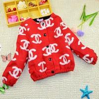 2-7Y 2014 winter little girls warm tweed jacket coat  X14049