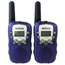 2pcs Purple Walkie Talkie T-388 UHF 462.550-467.7125MHz 0.5W 22CH LCD Display Flashlight VOX Two-Way Radio For Kid Children