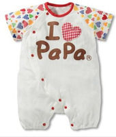 """I love Papa"" ""I love Mama"" newborn baby boy romper cotton unisex baby girl jumpsuit summer infant romper baby clothing 0-2y"