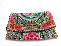 National Ethnic embroidery shoulder messenger bags women Bolsas vintage bag ladies embroidered cover handbags