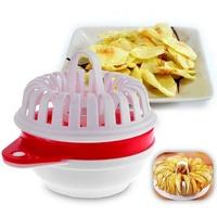 Microwave Oven DIY Oil-free Low Calorie Crispy Potato Chip Maker Set Vegetable Slicer for Potato Apple Pumpkin HG037