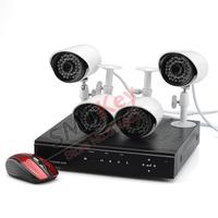 960H DVR System 4ch 700TVL waterproof camera 4CH full D1 960H DVR system with HDMI VGA BNC video output