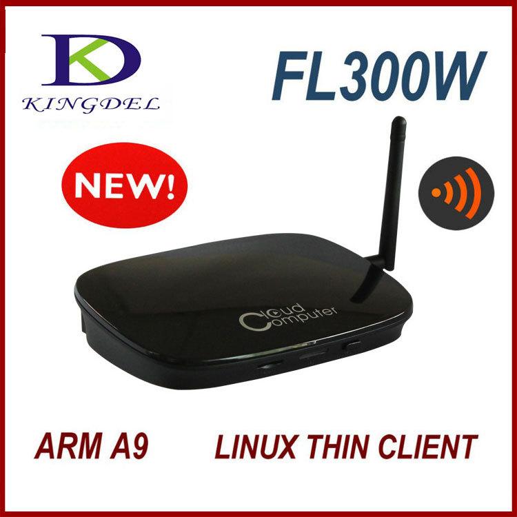 Mini PC Station Thin Client Cloud Terminals 1080P HDMI VGA RJ45 Ports Wifi PC Share RDP 7.1 Dual Core 512MB Flash ARM-A9(Hong Kong)