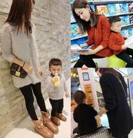 Senderos 2014 family parent-child winter fashion sweater male V-neck child sweater mohair child