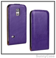 Crazy Horse PU Leather Flip Cover Case for Samsung Galaxy S5 Mini G800