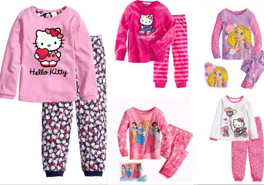 Hello Kitty Pijamas Infantil Snow White Children's Set Girls Clothing Sets Kids Pajamas Set For Girl Pyjamas Branca De Neve CW20(China (Mainland))