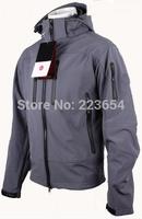 Spring autumn men Soft shell Fleece outdoor jackets brand waterproof climbing hiking ski jacket Sportswear military outerwear