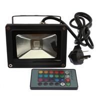 10W RGB LED Spotlight Flood Light Wall Wash Light Waterproof Project Lamp+24K IR Remote Control UK plug  82798