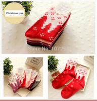 New Christmas tree Snowflake Deer Design Womens Wool Socks Warm Winter Comfortable