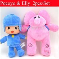 Wholesale 10pcs/lot New 26CM Pocoyo 30CM Elly Plush Kids Toy Baby Stuffed Cartoon Animals Boy and Girl Dolls Children Gift