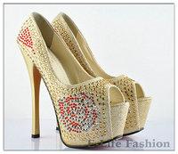 High Heel Women Pumps Pearl Bridal Shoes Princess Single Women Wedding Shoes To Ware 8732-39