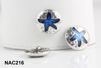 10pcs/lot starfish snap button DIY Interchangeable Ginger Snaps Jewelry for women NAC216