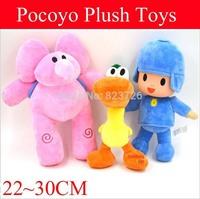 Free EMS 150Pcs POCOYO Cartoon Dolls Stuffed Animals Toy Plush Toys Hobbies Elly Elephant Pato Duck POCOYO Baby Kids Toys
